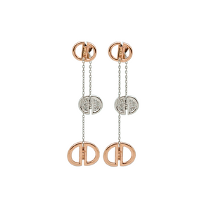 Ladybug Rose Gold Earrings With Diamond