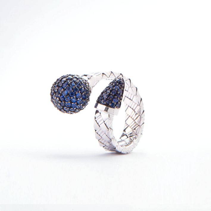 Blue Bonbon Ring With Sapphire