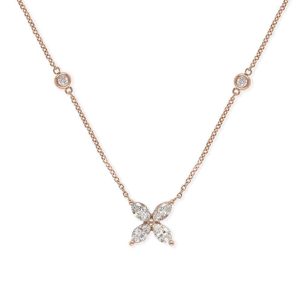 Everyday Sparkle 18K Gold with Diamond Necklace