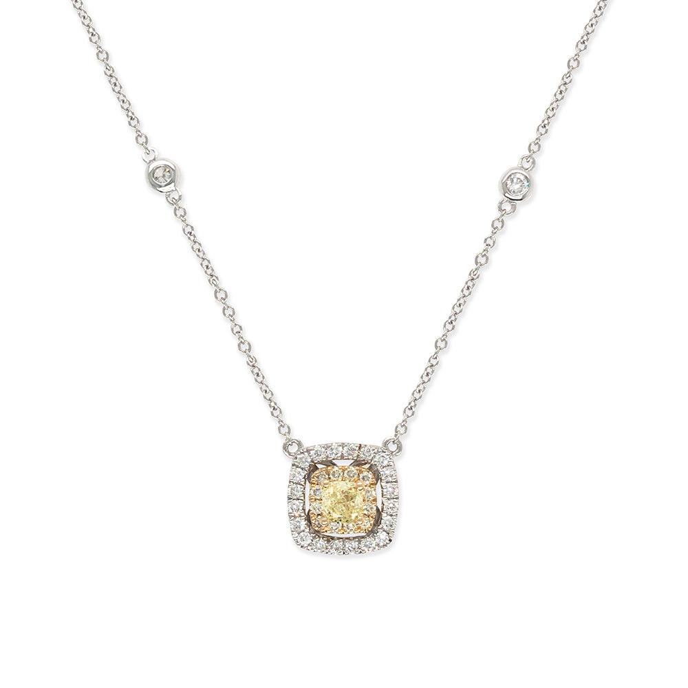 Everyday Sparkle 18 K Gold And Diamonds Necklace