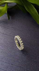 Pear Shape Diamond Cuff