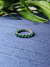 Load image into Gallery viewer, Round Emerald Eternity Ring