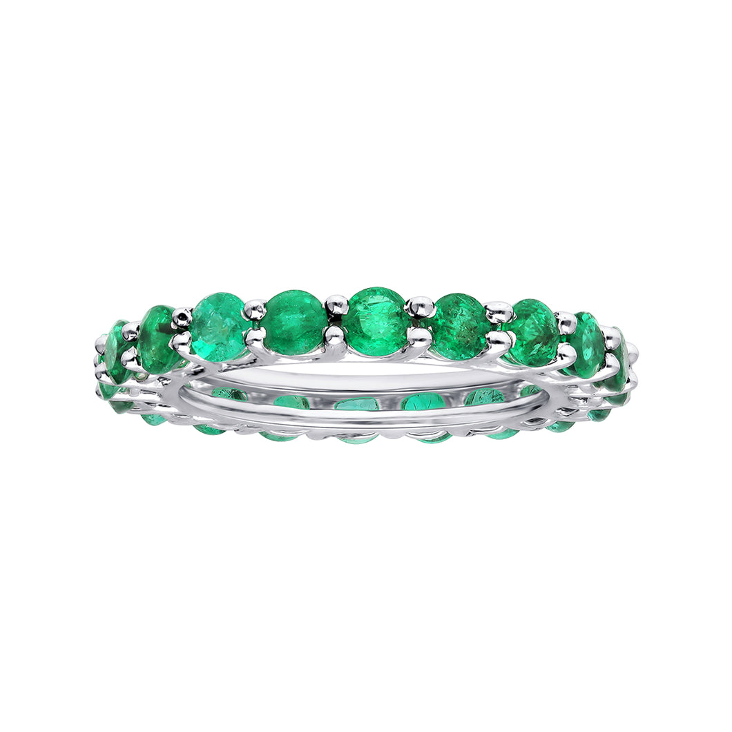 Round Emerald Eternity Ring