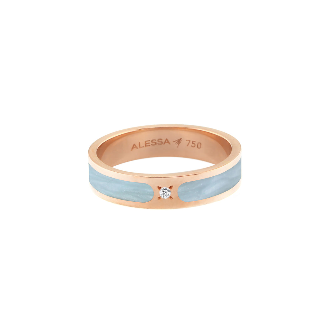 Rose Gold Spectrum Hand Painted Ring