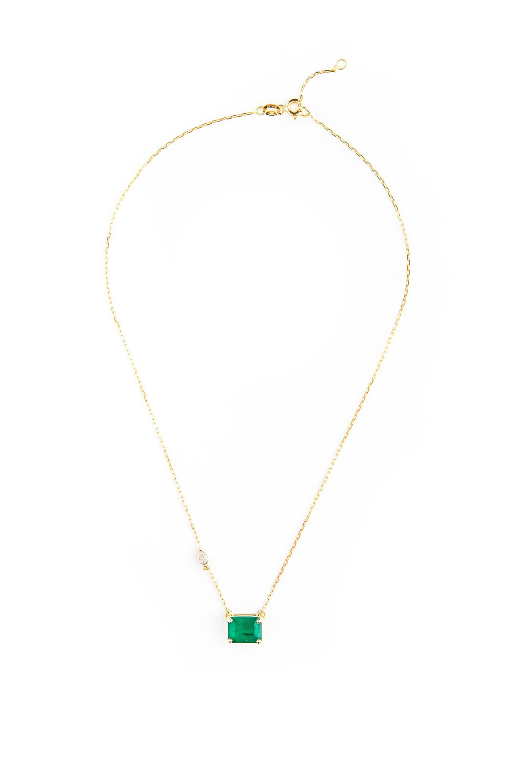 4 CARAT EMERALD CUT ROCK NECKLACE