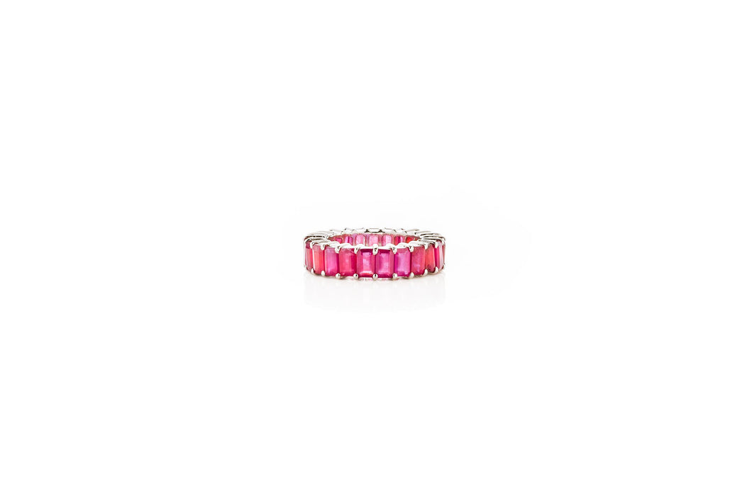 RUBY EMERALD ETERNITY BAND (RING)