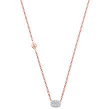Load image into Gallery viewer, 18K Rose Gold Reverie Cushion Cluster Necklace