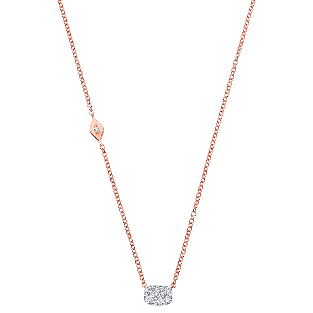18K Rose Gold Reverie Cushion Cluster Necklace