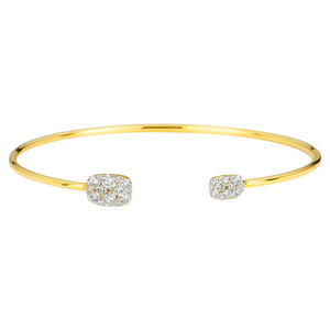 18K Yellow Gold Reverie Cushion Cluster Cuff