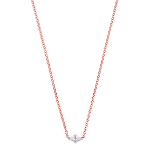 18K Rose Gold Dujour Marquis Single Diamond Necklace