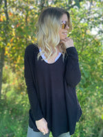 Black Brushed Relaxed Sweater