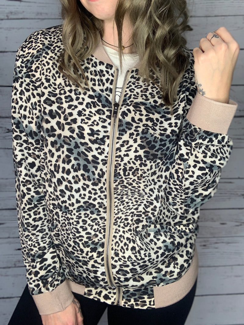 FINAL SALE: Leopard Bomber Jacket