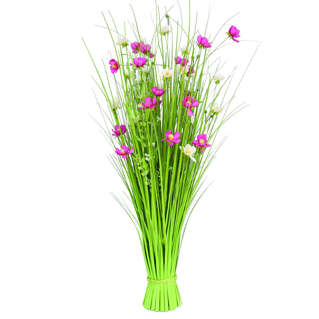 Grass Bundle with Mixed Flowers 100 cm