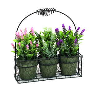 Triple Flower Wire Basket 25 cm
