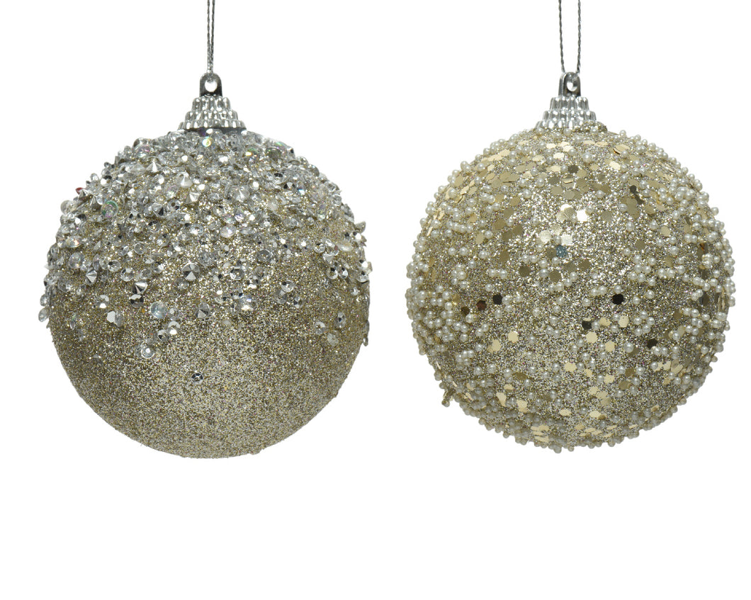Bauble Glitter Champagne