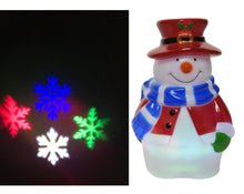 Load image into Gallery viewer, LED Snowman Projector