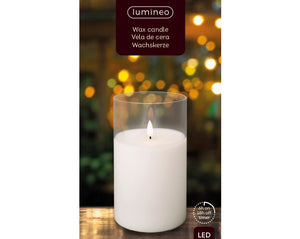 LED Wax Effect Candle 18cm
