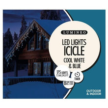 Load image into Gallery viewer, LED Icicle Twinkle 175 W/B