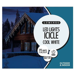 LED Icicle Twinkle 175 W/CW