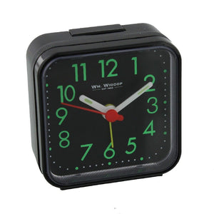 Square Alarm Clock - Black