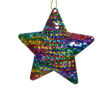 Load image into Gallery viewer, Sequin Star Tree Decoration