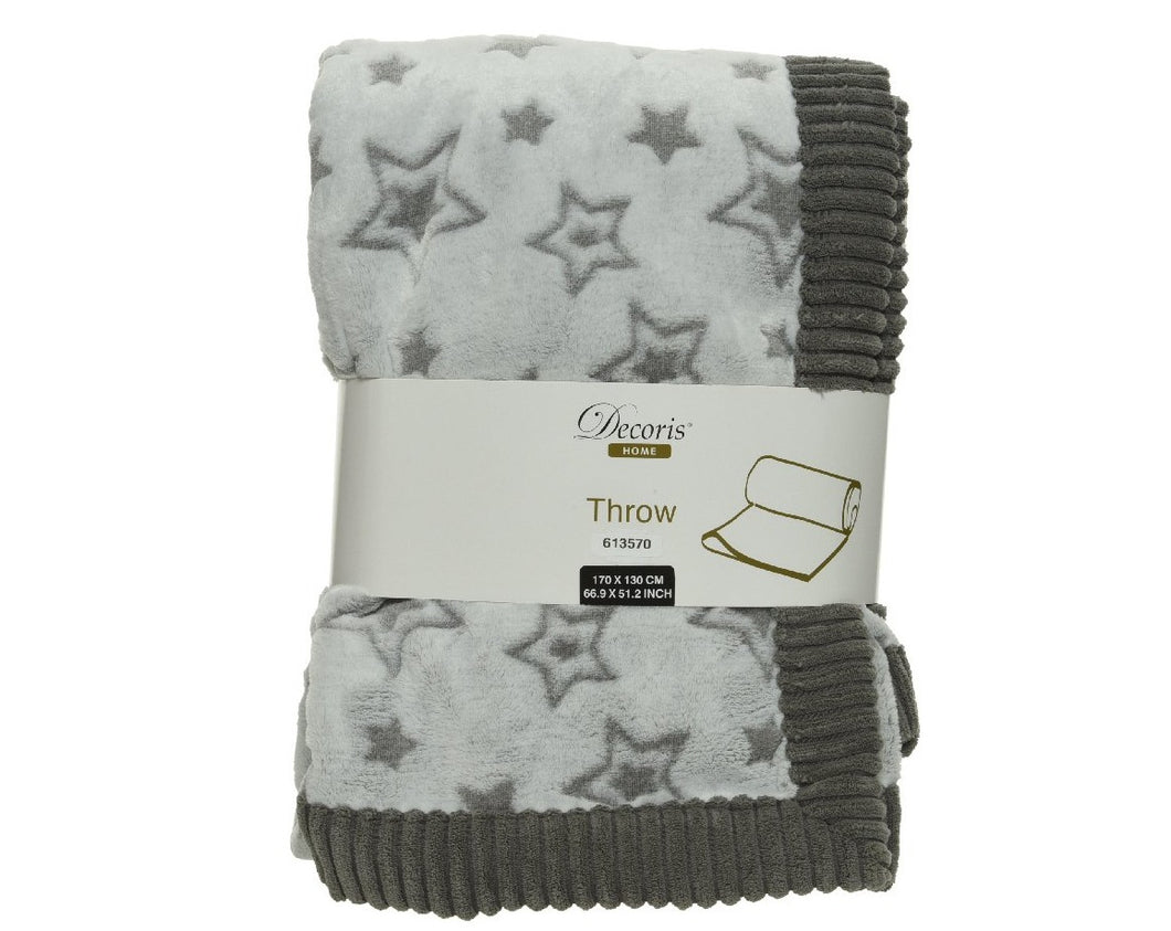Star Throw Grey