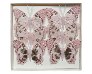 Feather Butterfly Set of 6
