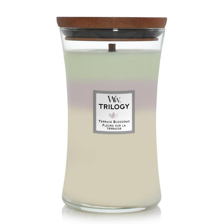 WOODWICK HOURGLASS TRILOGY LARGE - Terrace Blossoms
