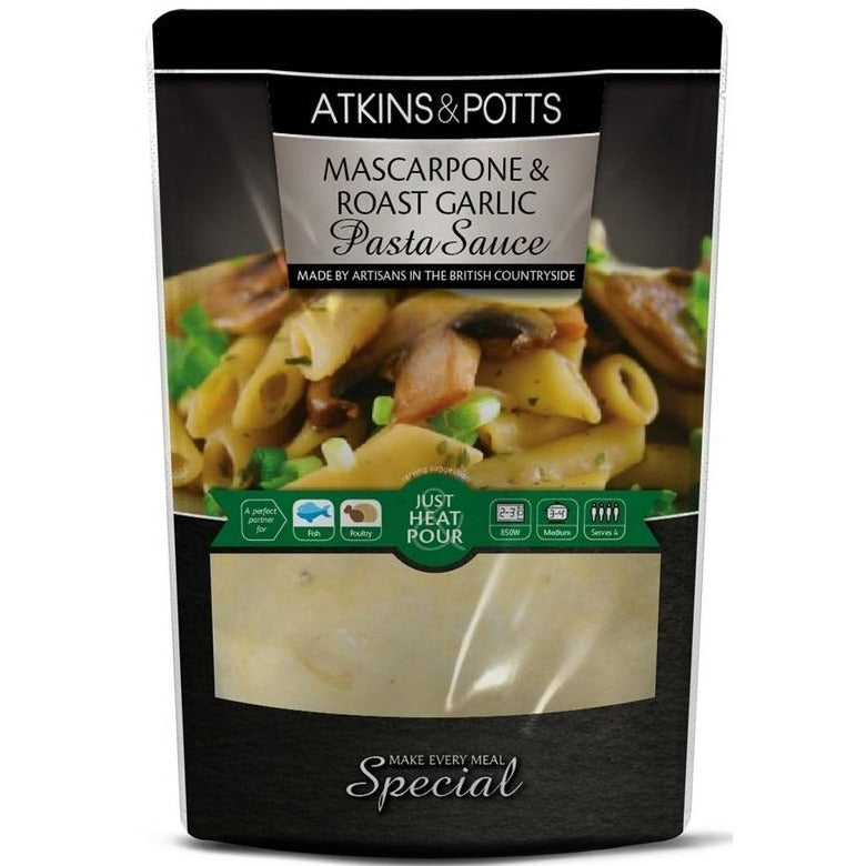 Atkins & Potts Mascarpone & Roast Garlic Sauce