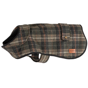 Heritage Green Check Dog Coat