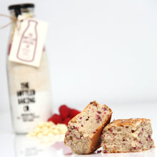 Load image into Gallery viewer, White Chocolate & Raspberry Traybake