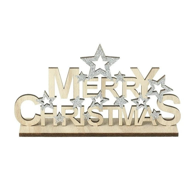 Merry Christmas Plaque Stars