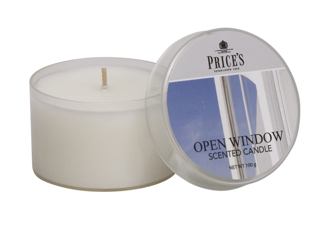 PRICE'S SCENTED TIN - Open Window