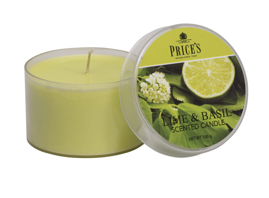 PRICE'S SCENTED TIN - Lime & Basil