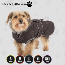 Load image into Gallery viewer, Quilted Dog Coat Black