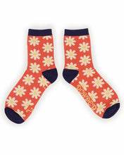 Load image into Gallery viewer, Ankle Socks Daisy - Tangerine