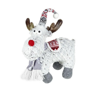 Small Standing Deer Red & Grey