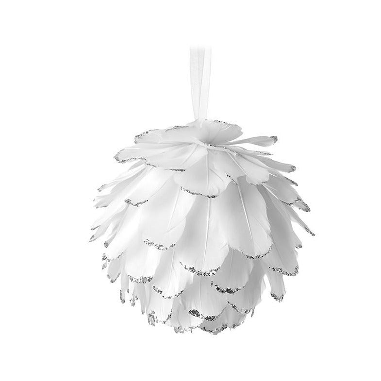 Small White Feather Bauble