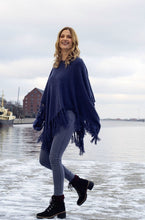 Load image into Gallery viewer, Tara Poncho in Navy