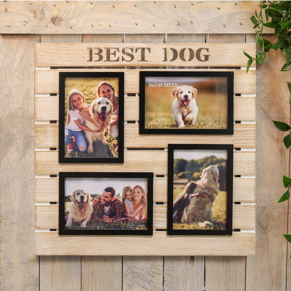 Wooden Multi Aperture Frame - Dog