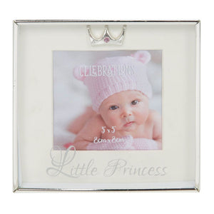 "Silver-Plated Box Frame 3x3"" - Little Princess"