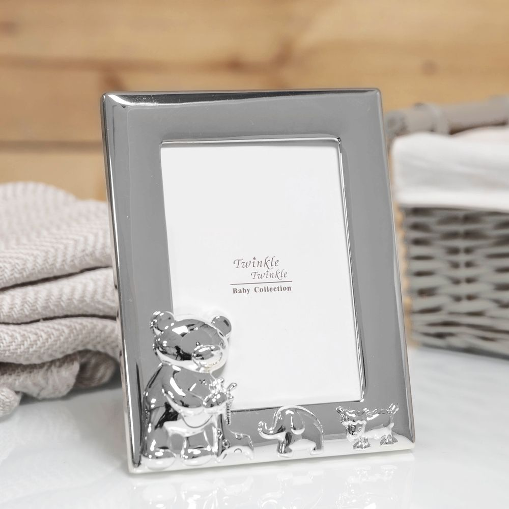 Silver-Plated Twinkle Twinkle Baby Frame 3.5x5