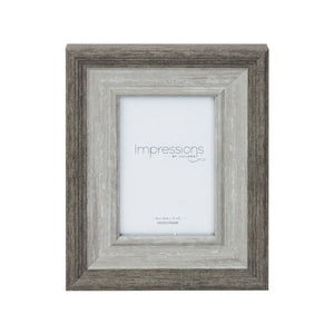 Grey-Washed Wood Effect Photo Frame 4x6""