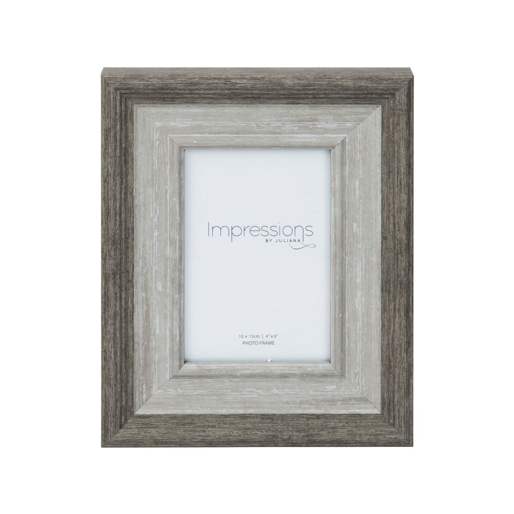 Grey-Washed Wood Effect Photo Frame 4x6