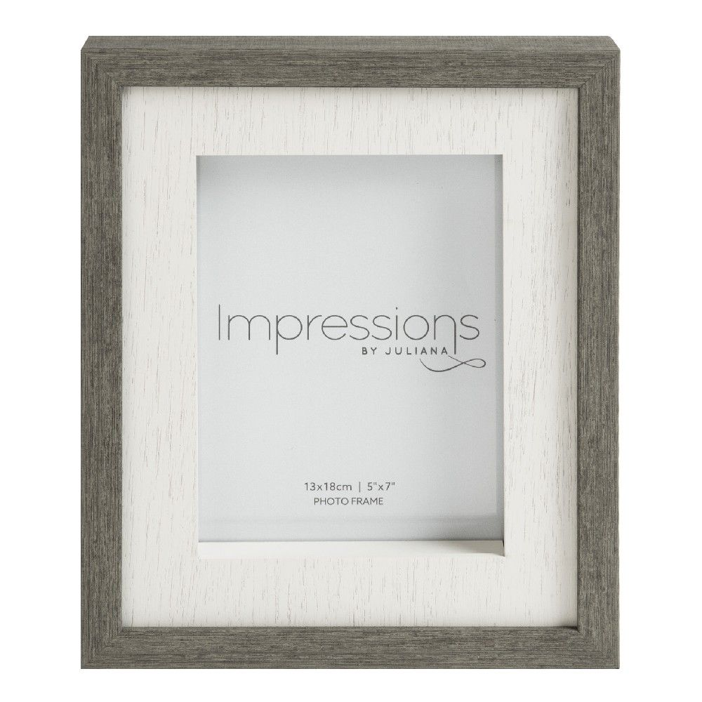 Grey Wood Effect Photo Frame 5x7