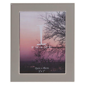 iFrame Grey Epoxy & Silverplate Photo Frame 5x7""