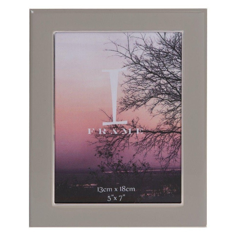 iFrame Grey Epoxy & Silverplate Photo Frame 5x7