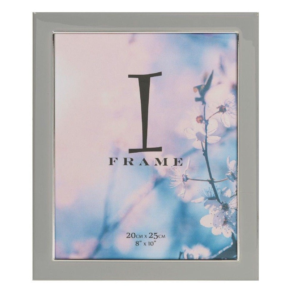 iFrame Grey Epoxy & Silver Plate Photo Frame 8x10