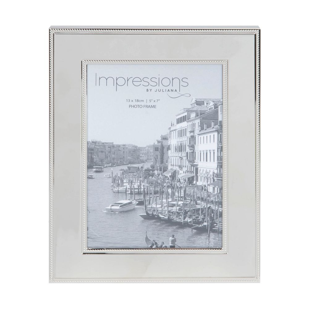 Nickel Plated Steel Photo Frame 5x7