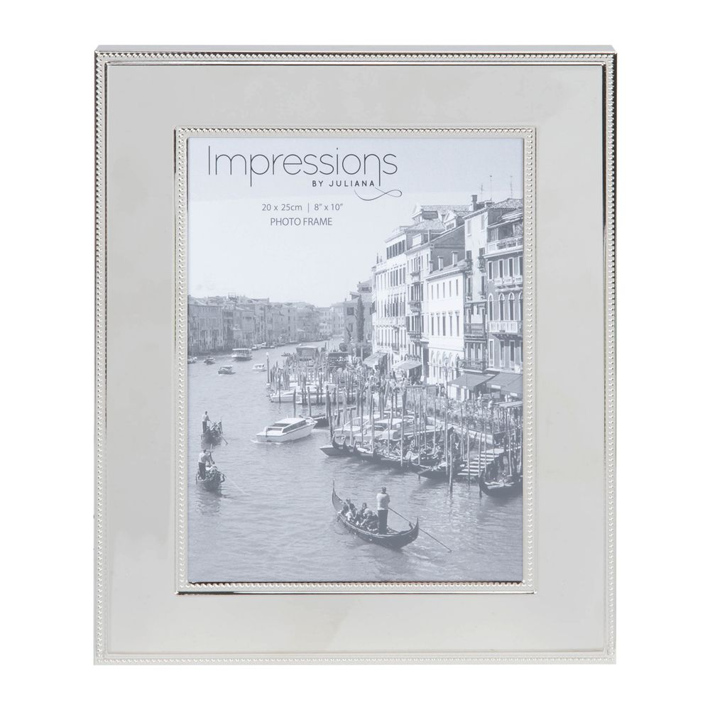 Nickel Plated Steel Photo Frame 8x10